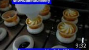 video of linear ice cream filling machine