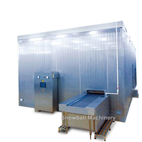 ice cream iqf tunnel freezer machine
