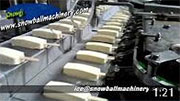 video of ice cream extrusion machine line
