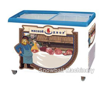 Flat top glass lid chest freezer SC/SD200/250