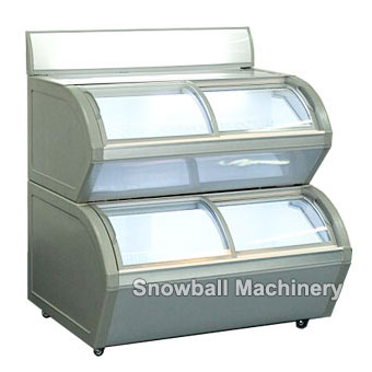 Commercial Ice Cream Two Tier Showcase Freezer