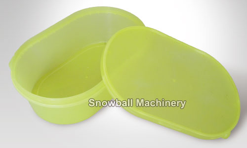 Injection molding plastic ice cream box with lid