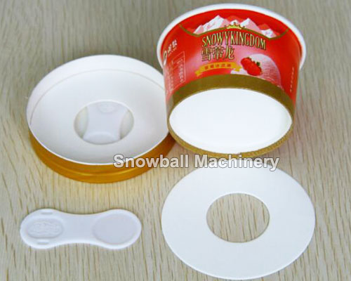 ice cream paper cup, cup with lid