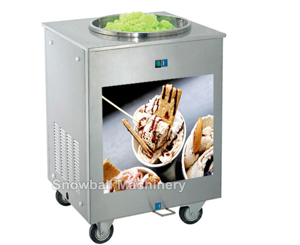 electronic rolled ice cream machine