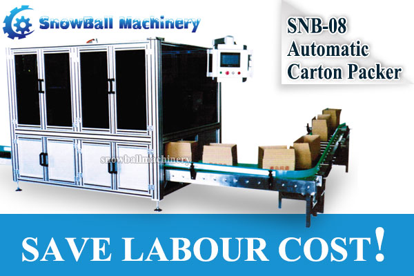 SNB-08 Automatic Carton Packer help you save labor cost, Snowball Machinery