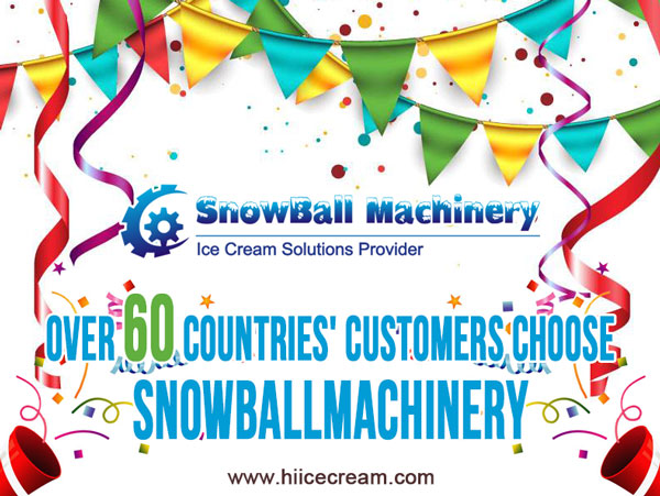 SNOWBALLMACHINERY industrial ice cream solutions provider, ice cream machine