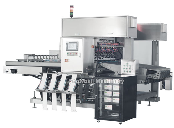 ice cream multi lane packing machine, multi lane wrapper