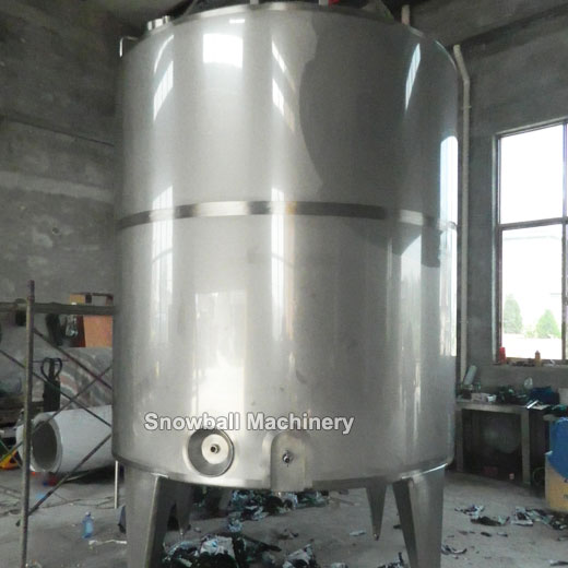 3000L ageing tank machine for ice cream plant, ice cream mix preparation equipment