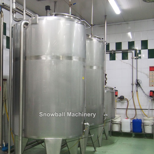 1200L ageing tank for ice cream plant, ice cream aging tank