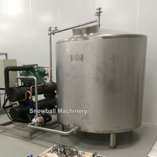 ice cream ageing tank self cooling, self cooling ice cream aging tank