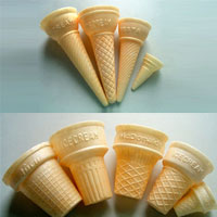 molded ice cream cone