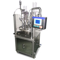 Rotary ice cream filling machine