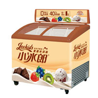 Commercial curved glass door chest freezer for gelato ice cream SD280