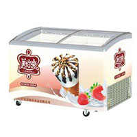Commercial ice cream display freezer for sale