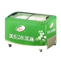 Commercial ice cream display storage freezer for sale