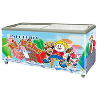 Flat glass door chest showcase ice cream freezer with CE UL,ETL LOW PRICE