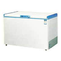 Single solid door ice cream chest freezer