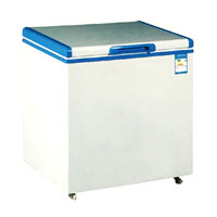 Commercial chest deep freezer with single solid top open door