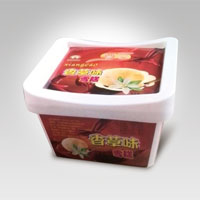 square plastic ice cream box with lid