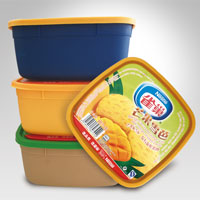 1L 2L injection molding plastic ice cream bowl with lid wholesale
