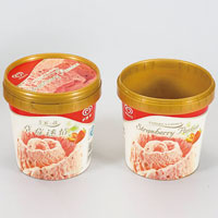 500ml injection molding plastic ice cream tub with lid