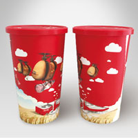 455ml IML cold drinking plastic cup