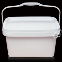 5L rectangle plastic bucket with lid