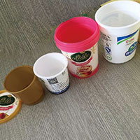 Different volume PP cups for ice cream products