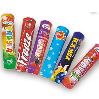 Ice lolly tube with paper aluminum-foil lids