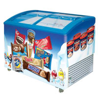 Ice Cream Curved Glass Chest Ice Cream Showcase Freezer