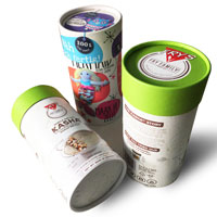 Green environmental material ice cream paper tube with lid