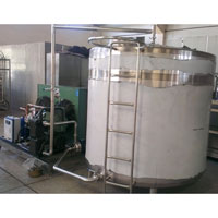 self cooling ice cream ageing tank