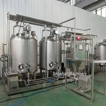 1000L ice cream mixing plant, HTST, ice cream mixer, mix preparation equipment